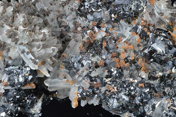 Quartz, Sphalerite, Galena, Calcite