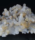 Quartz with growth phantoms,Galena,Dolomite