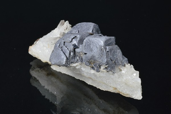 Skeletal Galena on Quartz
