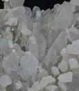 Quartz with rhombohedral Calcite, Chalcopyrite