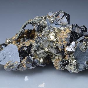 Sphalerite, Pyrite, Galena, Calcite