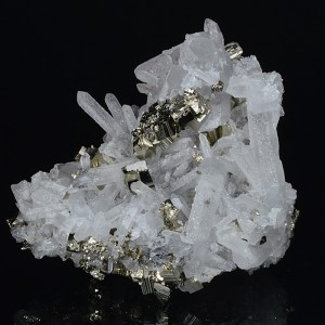 Pyrite on Quartz, Galena