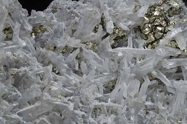 Pyrite on Quartz