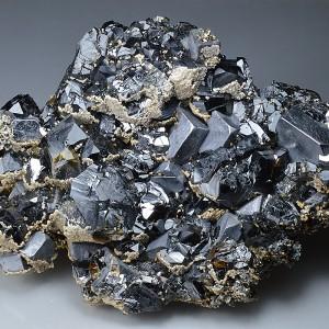 gem Sphalerite var.Cleiophane, Galena, Pyrite, Calcite
