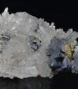 Quartz, skeletal Galena, Chalcopyrite, Sphalerite, Pyrite