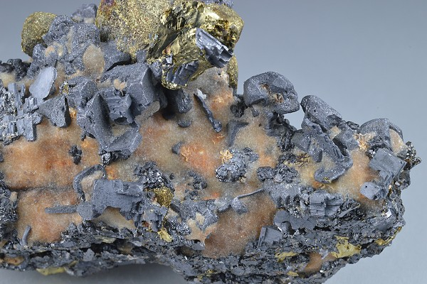 Chalcopyrite, Galena, Sphalerite, Calcite