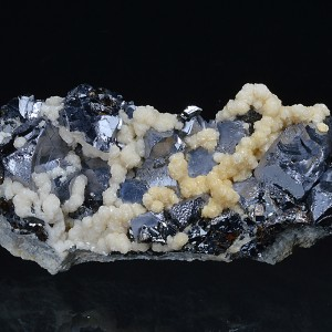 Twinned and truncated Galena, Calcite, Sphalerite