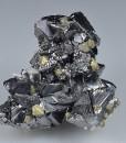 Sphalerite octahedrons, Chalcopyrite, Quartz - floater