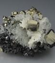 Pyrite, Quartz, Sphalerite, Calcite