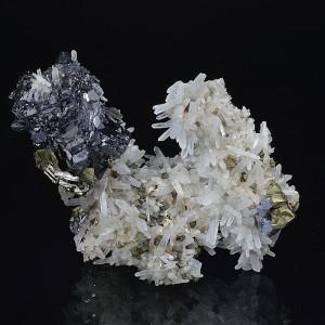 Quartz, Sphalerite, Chalcopyrite, Pyrite, Galena