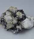 Chalcopyrite, Sphalerite, Calcite, Quartz