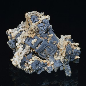 Skeletal Galena, Calcite, Quartz
