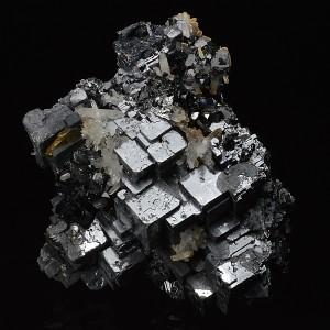 Skeletal Galena, Sphalerite, Quartz, Chalcopyrite