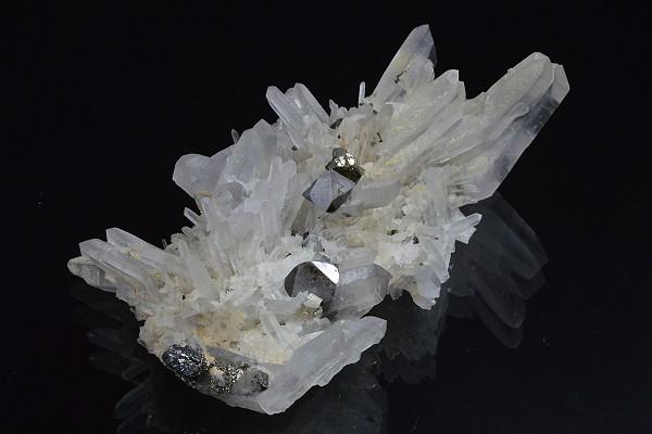 Quartz, Cleiophane, Chalcopyrite, Pyrite