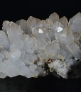 Quartz with growth phantoms, Calcite, Pyrite