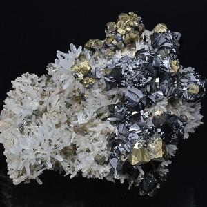 Chalcopyrite, Sphalerite, Quartz, Pyrite, Galena