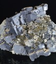 Twinned and truncated Galena, Sphalerite, Quartz, Chlorite