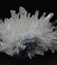 Galena on Quartz, Calcite