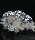 Quartz on spinel law twin Galena