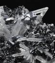 Quartz on Sphalerite tetrahedrons, Galena