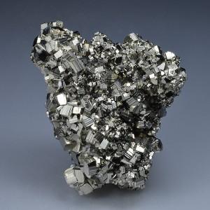 Pyrite with bi-terminated Quartz inclusions