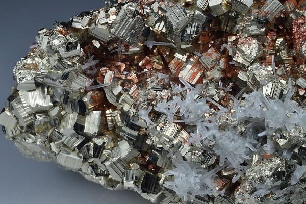 Pyrite, Quartz, Calcite