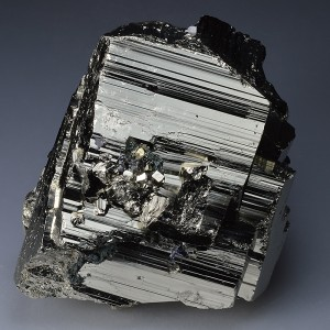 Galena on Pyrite