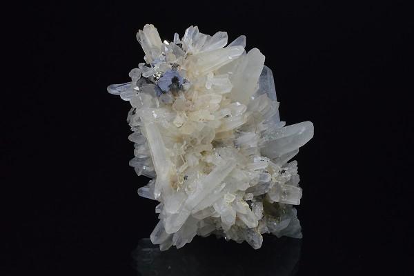 Bi-terminated Quartz, Cleiophane, Galena, Chalcopyrite, Pyrite