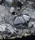 Twinned Galena, Sphalerite, Quartz, Pyrite