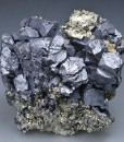 Galena on Pyrite, Quartz, Sphalerite