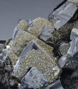 Pyrite on Galena and Sphalerite