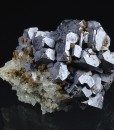Skeletal Galena, Quartz, Calcite
