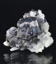 Sphalerite on Quartz, Galena, Chalcopyrite
