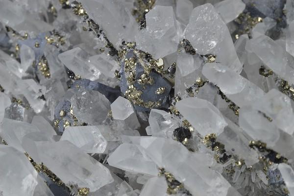 Quartz, Galena, Pyrite, Sphalerite