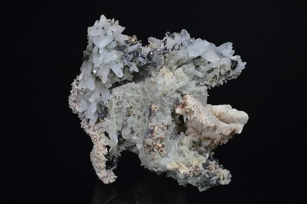 Quartz, Calcite, Chalcopyrite, Sphalerite