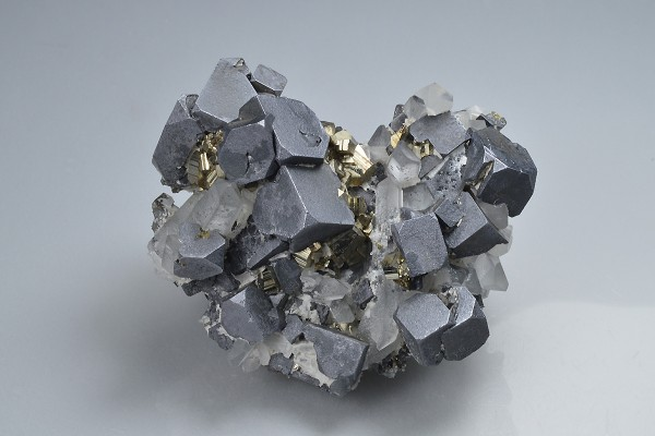 Truncated Galena, Pyrite, Quartz