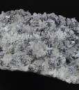 Skeletal Galena on Quartz, Sphalerite, Chalcopyrite