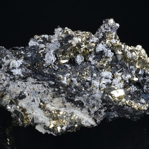 Pyrite on Sphalerite, Galena, Quartz