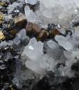Chalcopyrite on Quartz, Sphalerite, Galena