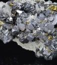 Skeletal Galena, Quartz, Chalcopyrite, Sphalerite