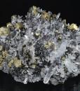 Chalcopyrite on Quartz, Sphalerite