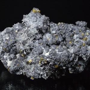 Quartz on Sphalerite, Chalcopyrite