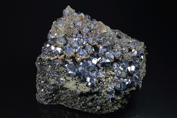 Truncated Galena, Sphalerite, Pyrite, Quartz