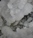Calcite on Quartz, Sphalerite