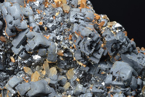 Skeletal Galena, Sphalerite, Quartz, Calcite