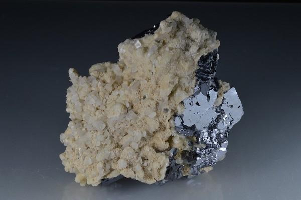 Twinned Galena, Calcite , Quartz