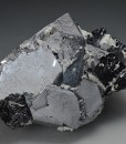 Twinned and truncated Galena, Quartz, Sphalerite