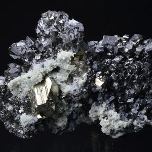 Cleiophane, Quartz, Pyrite, Galena