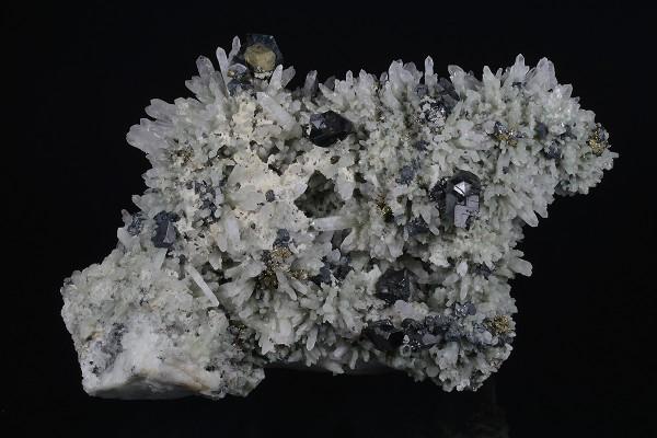 Quartz, Sphalerite, Chalcopyrite, Galena