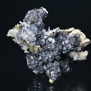 Sphalerite, Chalcopyrite, Quartz, Calcite